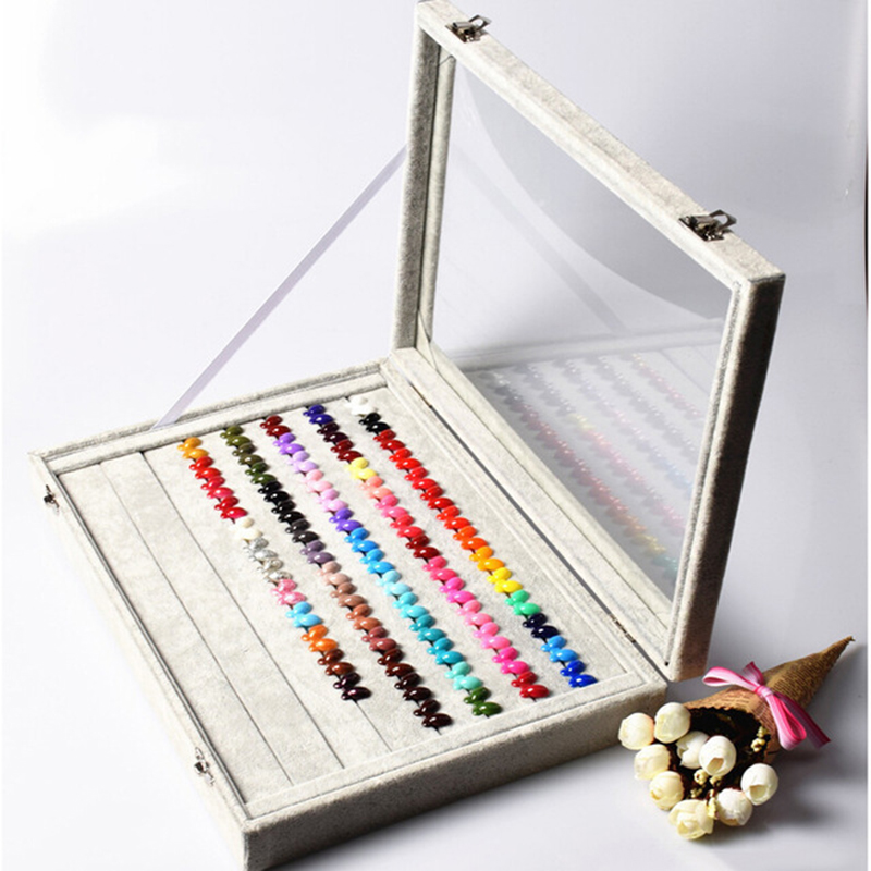 Pro High-Grade Manicure Palette Color Nail Display Plate Copies Nail Gel Color Display Book Chart With Butterfly Rings