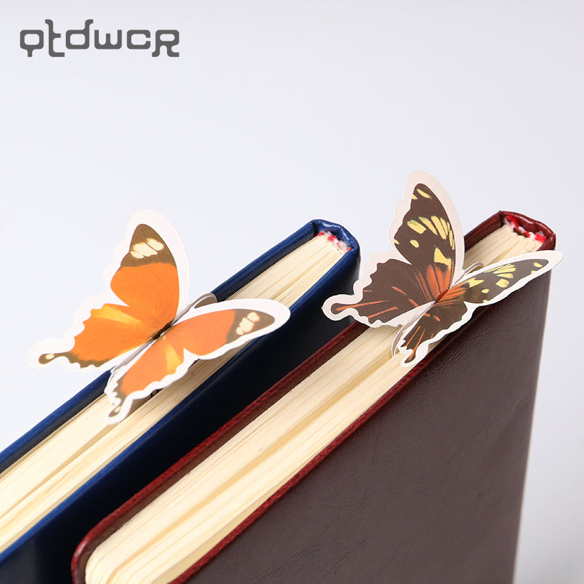 14PCS/lot Korea Stationery Korean Cute Butterfly Bookmark Exquisite Gift Paper Bookmark Animals Bookmark Reading Aide Supplies