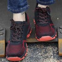 Мужские туфли для работы, противоскользящие, размеры 5,5-14, мужские теннисные туфли, защитная сетка, неглубокие мужские туфли из вулканизиров...