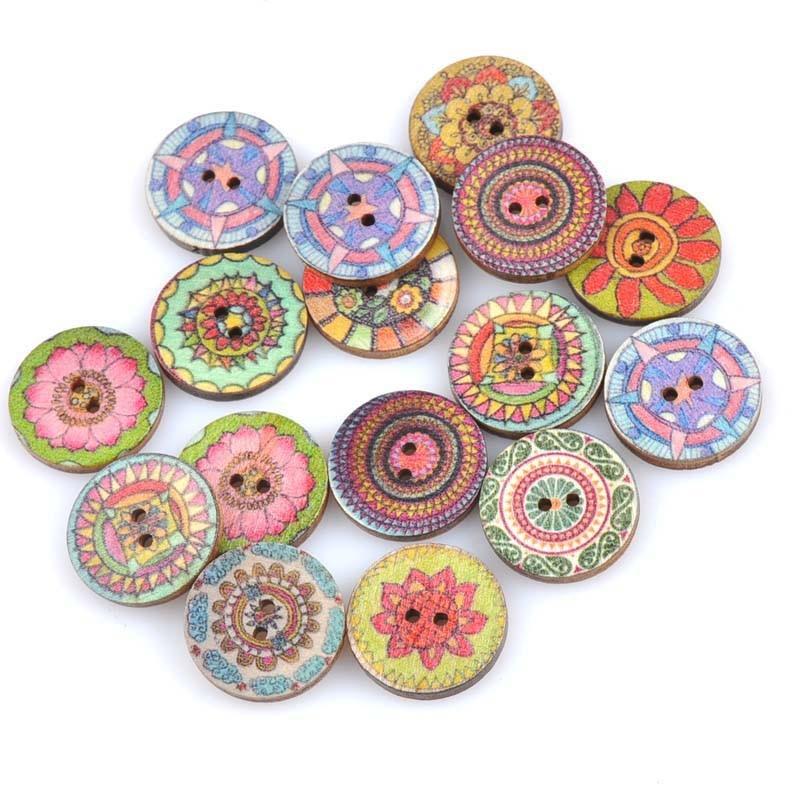 20 шт./лот ручная работа деревянные пуговицы окрашенные Швейные аксессуары популярные швейные изделия