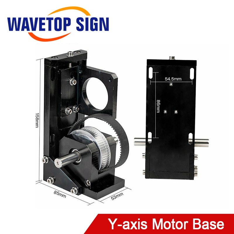 WaveTopSign Y-axis Motor Base NEMA23 Laser Bed Cutting Machine Part For Laser Cutting And Engraving Machine