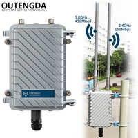 600Mbps 11AC 2,4G y 5G WiFi exterior CPE AP Router Wi-Fi señal Hotspot amplificador repetidor de Largo alcance inalámbrico PoE Punto de Acceso
