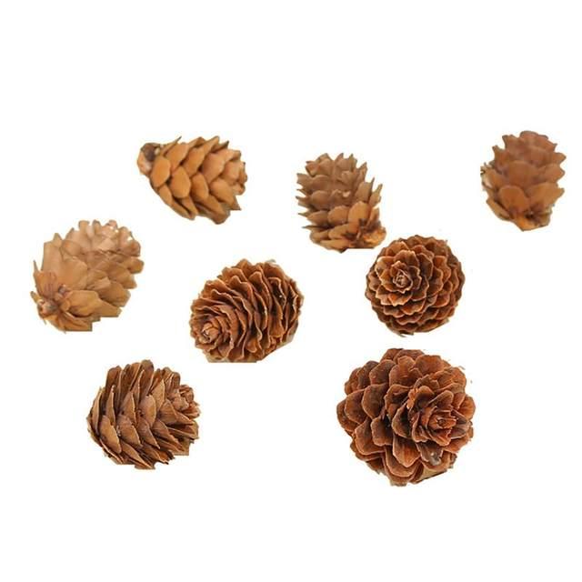 20PCS Wooden Natural Pinecone Christmas Tree Hanging DIY 3D Vivid Pine Cones Ornaments Party Christmas Decor Home Decors 21