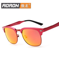 Popular women's accessories sports color film aluminum and magnesium polarized sunglasses riding glasses glasses driving mirror