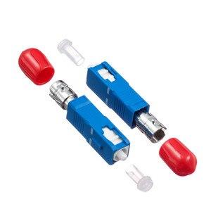 Image 4 - 2 stücke Freies Verschiffen ST Weibliche zu SC Männlichen Fiber Optic Adapter Einzigen modus ST SC Hybrid Optischen Adapter