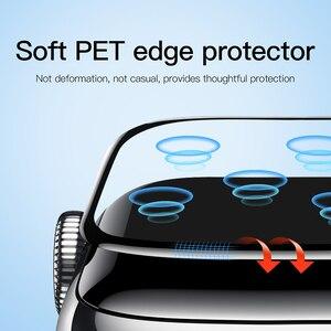 Image 2 - Baseus 0.2mm 얇은 보호 유리 Apple Watch 4 5 6 SE 3D Full Coverage 강화 유리 iWatch 4 3 2 화면 보호기