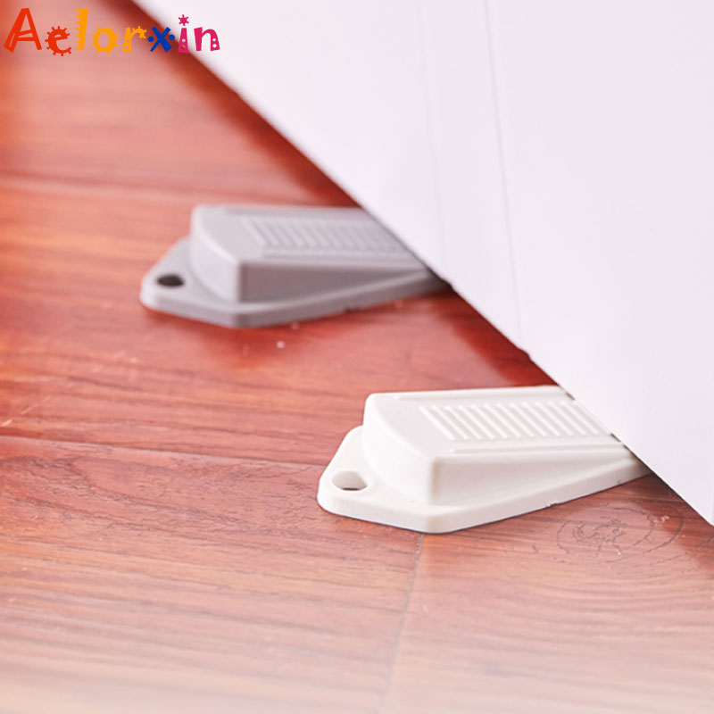 1Pcs Child Protection Door Windproof Soft Rubber Anti-pinch Door Stopper Baby Child Kids Safety Door Stop Lock