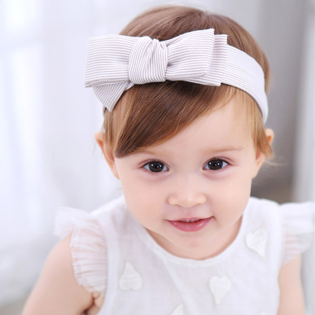 1 PC Girls Cute Headbands Striped Bowknot Hair Accessories For Girls Hair Band clips for kids flower bow knot bandage metting joura vintage bohemian ethnic tribal flower print stone handmade elastic headband hair band design hair accessories