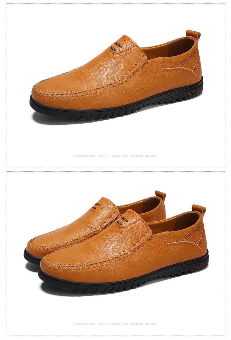 DEKABR Men Shoes Genuine leather Comfortable Men Casual Shoes Footwear Chaussures Flats Men Slip On Lazy Shoes Zapatos Hombre