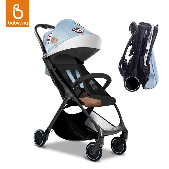 Recién Nacido Cochecito Cochecito de Bebé plegable Portátil de Viaje Ligero Cochecito de Bebé 4.9 kg 5 Regalos