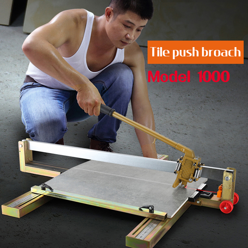 Tile Push Knife Floor Wall Tile Cutting Machine Cutting Tool High Precision Manual Tile Cutting Machine 1000mm [1000type]