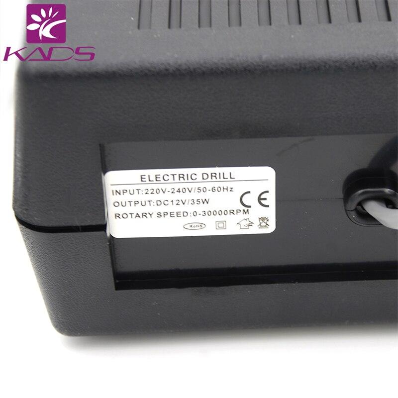 35 вт черный про электродрель нейл-арта машина оборудования ногтей маникюр педикюр файлы электрические маникюрные дрель и аксессуаров
