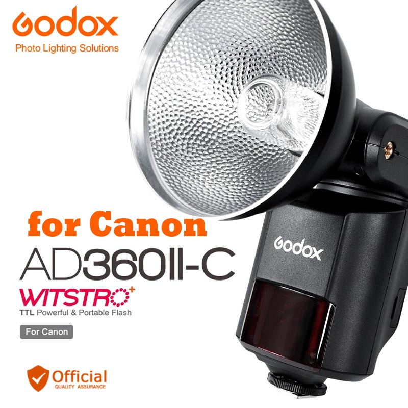 Godox Witstro AD360II-C TTL 360W GN80 Powerful Speedlite Flash Light for Canon EOS Camera 6D 70D 5D Mark III 1D X 100D 700D ismartdigi lp e6 7 4v 1800mah lithium battery for canon eos 60d eos 5d mark ii eos 7d