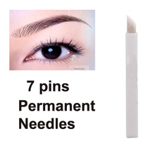 30pcs Eyebrow 7pins Permanent Makeup Needles For Eye Tattoos Prong Flat Blades 3d Microblading Embroidery
