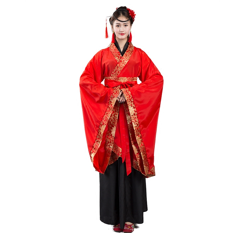 New Ritual State Women 39 s Ancient Dress Han Dress Double Winding Song Fu Xuanji Stage Classical Dance Costume Antique Red