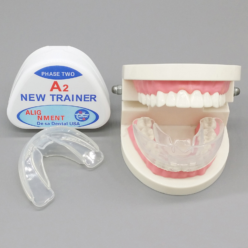 Hot No Odor Transparent Teeth Whitening Dental Orthodontic Dental Trainer Dental Alignment Appliance Tooth Rehabilitation Care transparent dental orthodontic mallocclusion model with brackets archwire buccal tube tooth extraction for patient communication