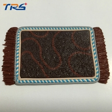 Teraysun 8.5*5cm size model furniture/scale sand pottery carpet Model building material