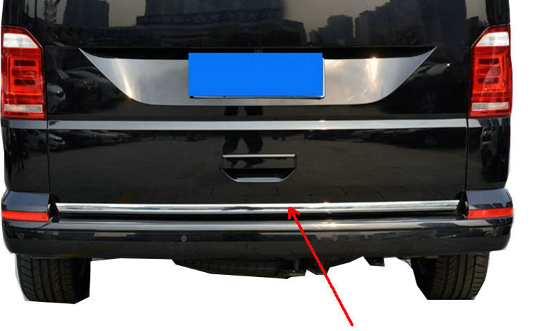 ABS Chrome 1pcs Rear Trunk Tail Gate Bottom Cover Molding Trim For VW Volkswagen Transporter (T6) Caravelle 2017-2018