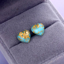 Trend heart-shaped gold leaf earrings female geometric earrings statement party jewelry gift(China)