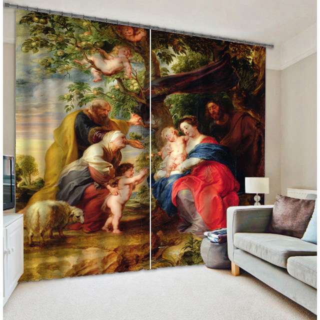Shade Fabric Classic Virgin Mary 3D  Blackout Curtains For Living room Bedding room Hotel Drapes Cortinas paraShade Fabric Classic Virgin Mary 3D  Blackout Curtains For Living room Bedding room Hotel Drapes Cortinas para