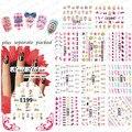 2015 NUEVO 50 Unids/lote 3D E193-203 Manicura 3D pegatina 3D pegatinas de uñas de Manicura especial carta de la Princesa zapatos de tacón alto