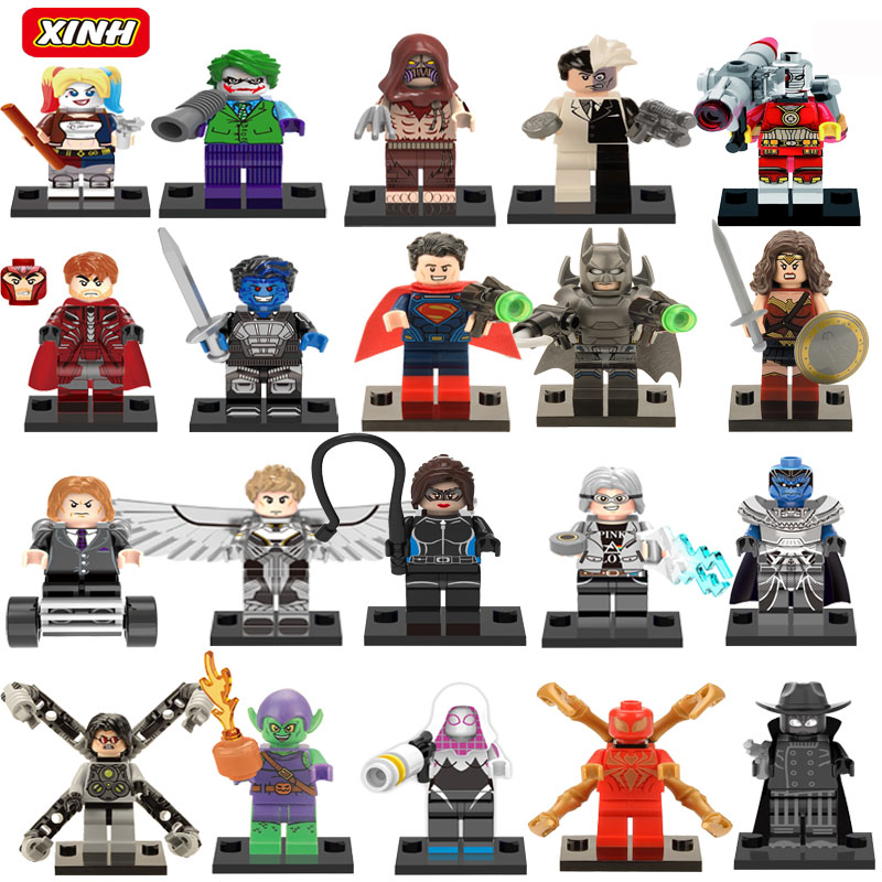 где купить  Marvel Super Hero Suicide squad Avengers Batman Harley Quinn Joker  Building Blocks Action Figure Baby Kids Toys  дешево