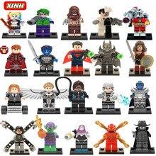 Marvel Super Hero Suicide squad Avengers Batman Harley Quinn Joker Building Blocks Action Figure Baby Kids Toys