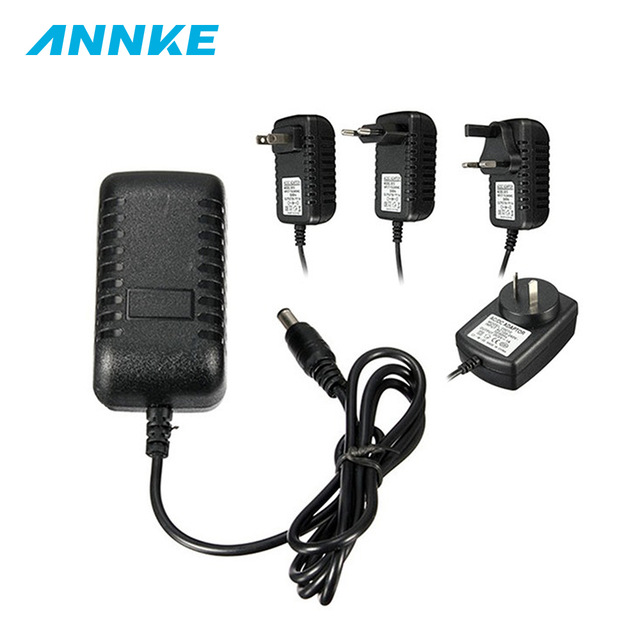Newing EU AU US UK 12V 2A Power Supply AC 100-240V To DC Adapter Plug For CCTV Camera / IP Camera Surveillance Accessories
