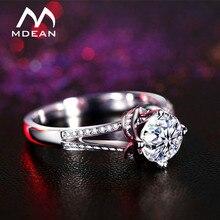 MDEAN anillos de compromiso para las mujeres AAA Zircon joyería Bague Bijoux accesorios tamaño 5 6 7 8 9 10 MSR098