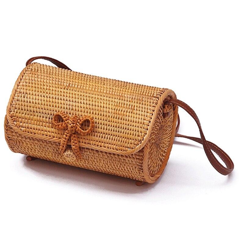 Пляжная сумка ручной работы из ротанга и соломы в стиле ретро, маленькая квадратная сумка через плечо, роскошные сумки, женские сумки