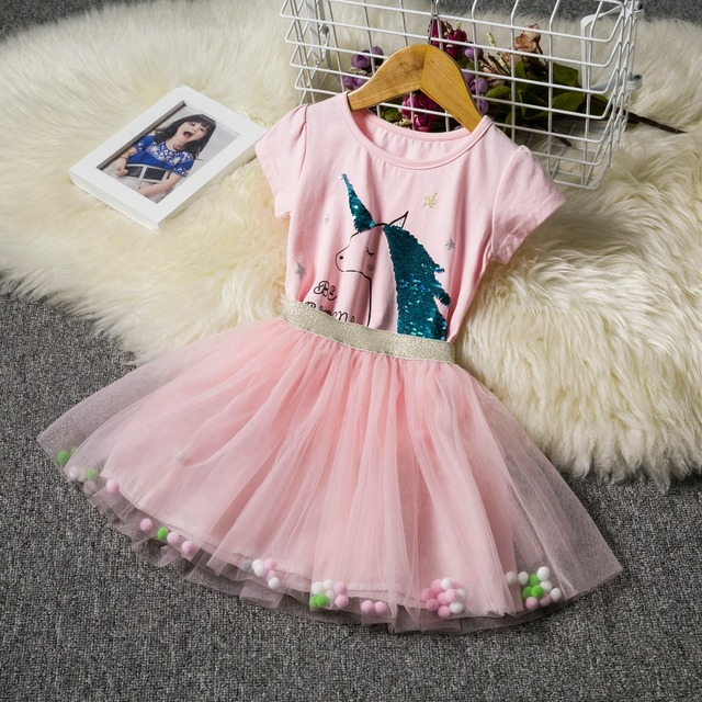 656e0b451 Fancy Dress for Girls Unicorn Party Dress up Rainbow Kids Dresses for Girls  Princess Girl Halloween Carnival Costume Tutu Wear