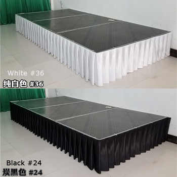 Free shipping Ice silk banquet table skirt wedding backdrop for tablecloth table cover wedding stage table skirting decoration