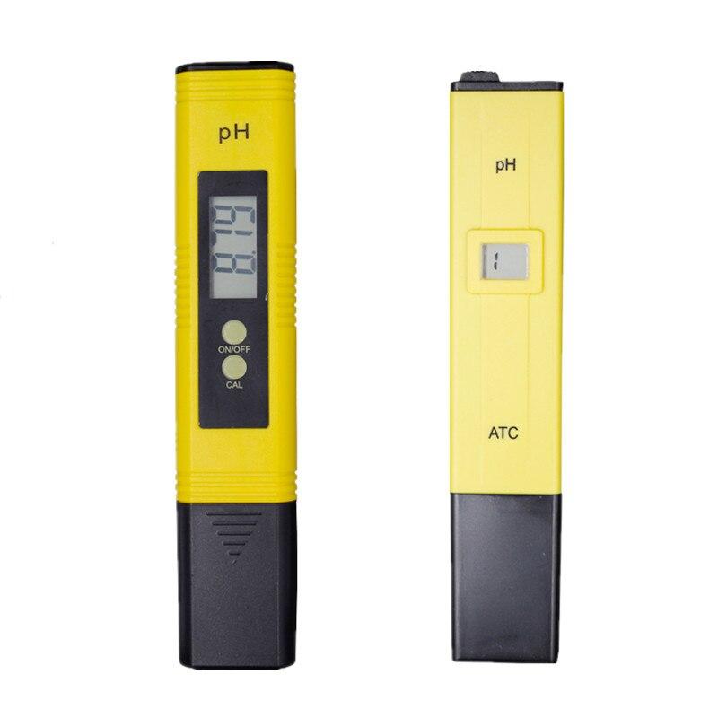 1pc PH Meter Portable Pocket Pen Water Digital Tester Quality Measure Range 0.0-14.0pH For Aquarium Pool Water Laboratory
