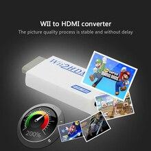 Dla Wii Adapter HDMI Converter obsługuje FullHD 720P 1080P 3.5mm Audio do Monitor HDTV wyświetlacz Wii2HDMI gorąca sprzedaż