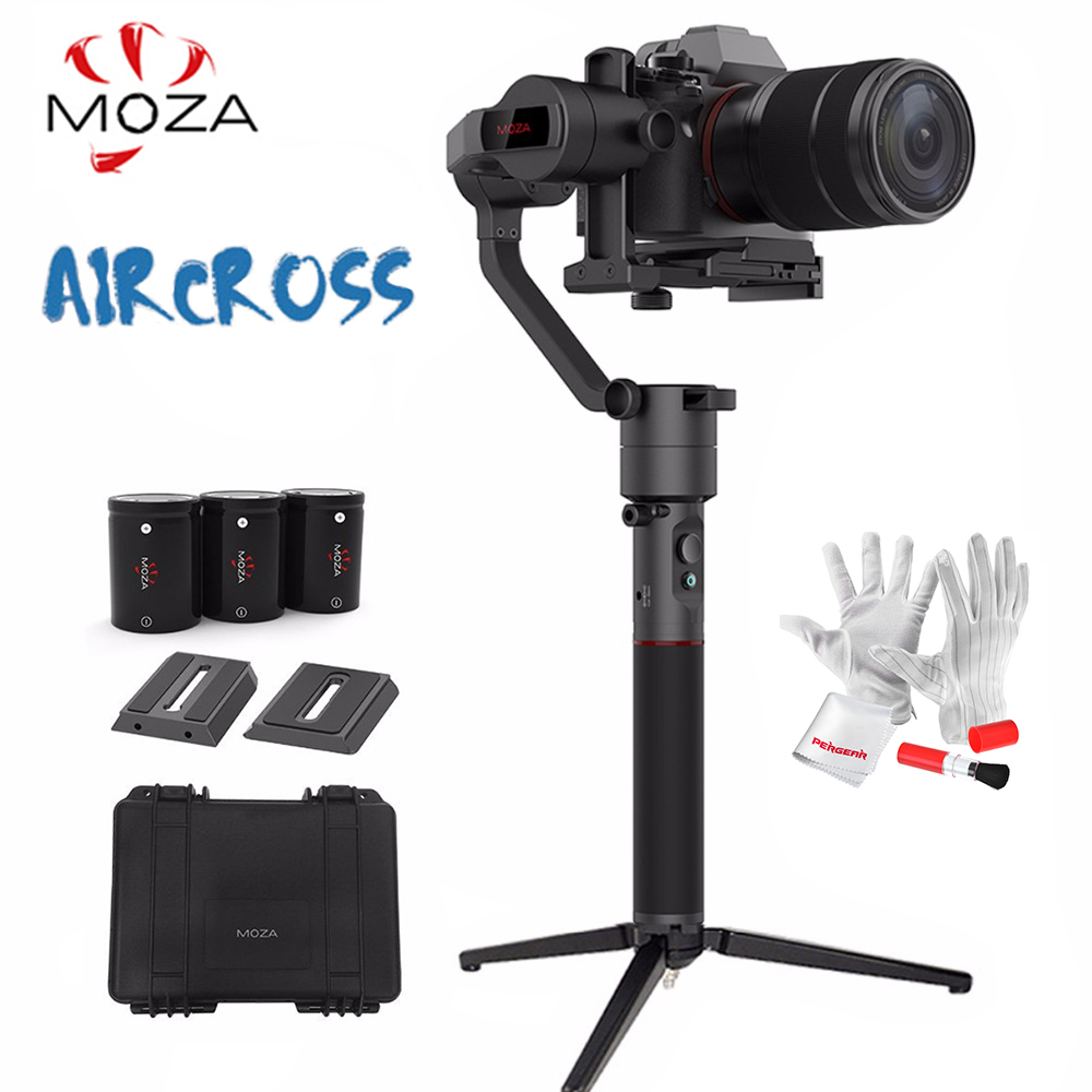 MOZA AirCross 3-Axis Handheld Gimbal for Mirrorless Load 1800g Parameter Auto-Tuning Long Exposure Time-lapse PK Zhiyun Crane M
