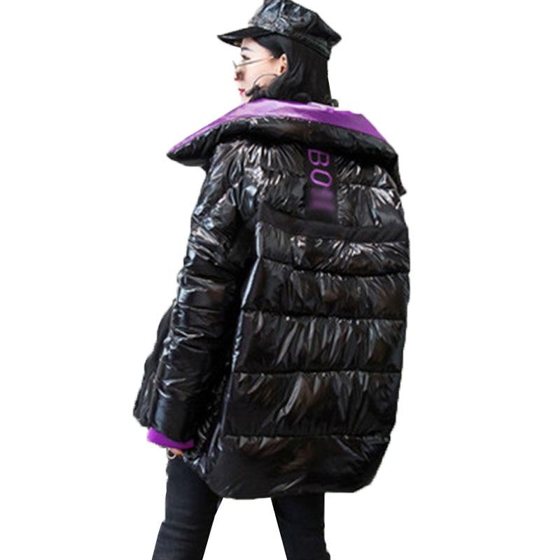 Winter Jacket Women Bright Short Down parka Basic Coat New Student Bread Street Clothing Warm Down Jacket Coat Cotton Ouywear 76-in Parkas from Women's Clothing    2