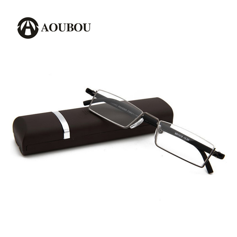 5b974c67c5 New High-end Reading Glasses Women Men TR90 Semi Frame Gold Resin Lens  Super Light Anti Bending Glasses Case Gafas Lectura A105