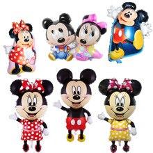 1 шт. фольгированные шары с Микки и Минни Маус, украшение для дня рождения, маленькая голова Микки, средний шар с Микки Маусом, детская игрушка