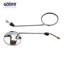 8MM Round Silver Plating Rearview Mirror for 50cc 70cc 90cc 110cc 125cc 150cc 200cc 250cc Dirt Bike Go Kart Scooter E036-008 goofit gy6 scooter moped motorcycle 50cc 125cc 150cc 250cc rear view mirror 8mm pair e036 023