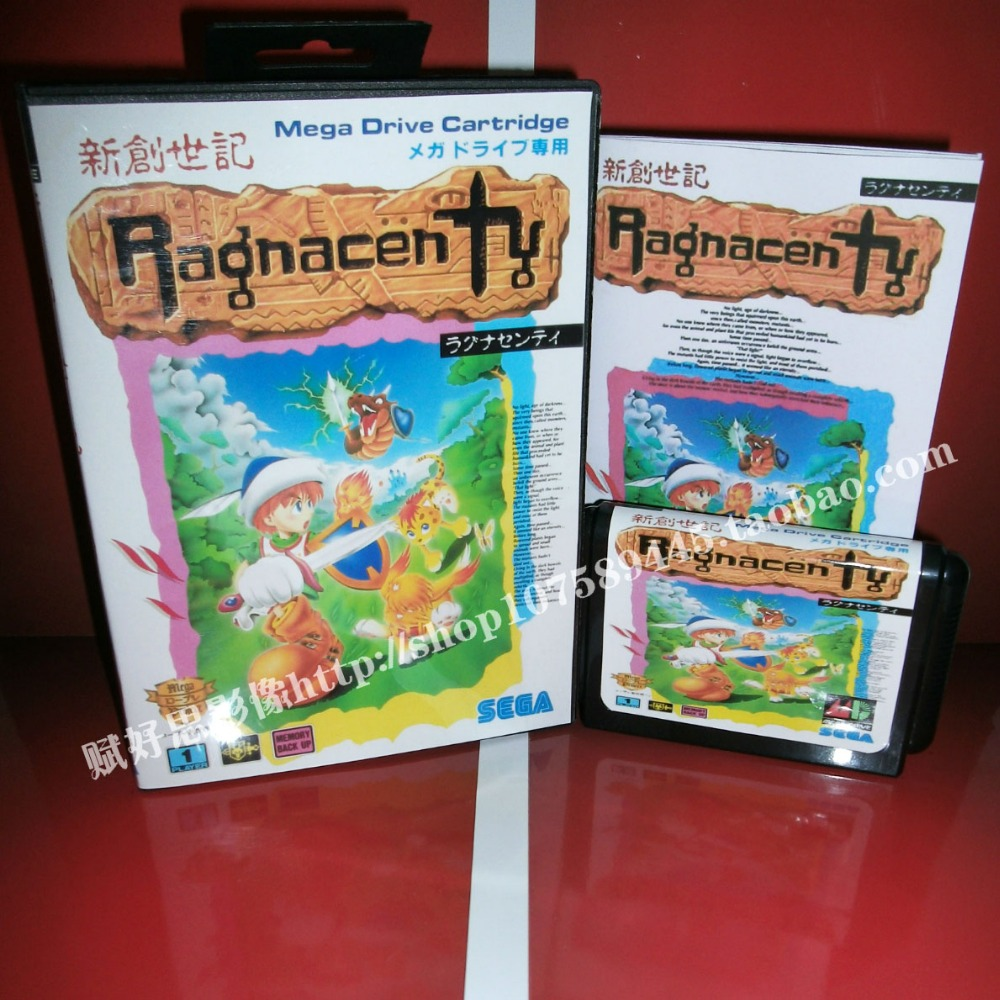 Ragnacenty Game cartridge with Box and Manual 16 bit MD card for Sega Mega Drive for Genesis
