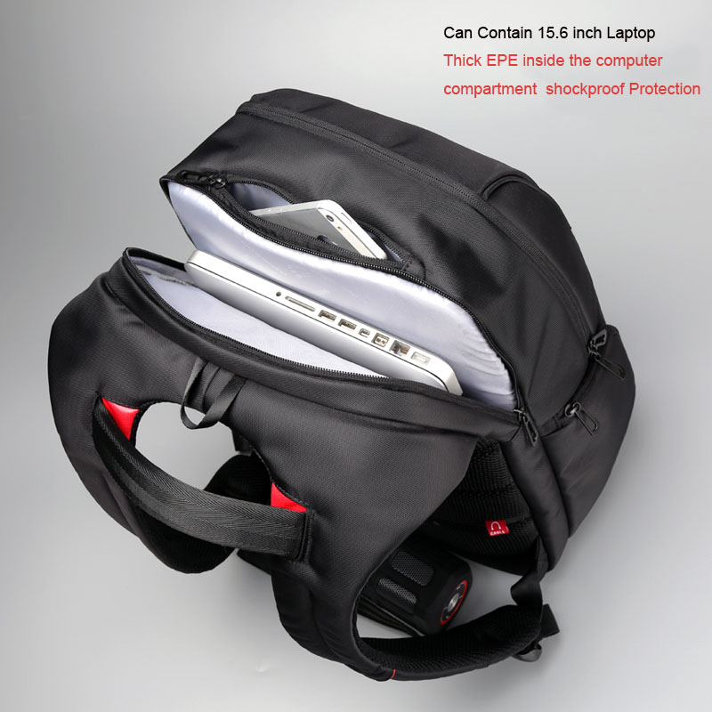 e85a80d9aa68 Waterproof Laptop Backpack 13 15 17 inch Schoolbag USB Charge Men Notebook  Backpack Anti theft Travel Bag Large Computer Bags-in Backpacks from  Luggage ...