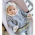 Infant Girl Dress Newborn Baby Girl Dresses 2016 Spring Infant Bow Baby Girl Dress Knit Sweater Girl Dress Ball Gown Vestidos