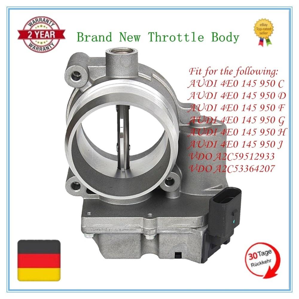 New THROTTLE BODY VALVE FOR AUDI A4 A5 A6 A8 Q7 VW Phaeton/Touareg 2.7 3.0TDI 4E0145950C 4E0145950D 4E0145950F цена