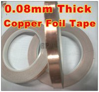 1x 5mm 30M 0 08mm Thickness CU Copper Foil Tape One Side Adhesive One Side Conductive