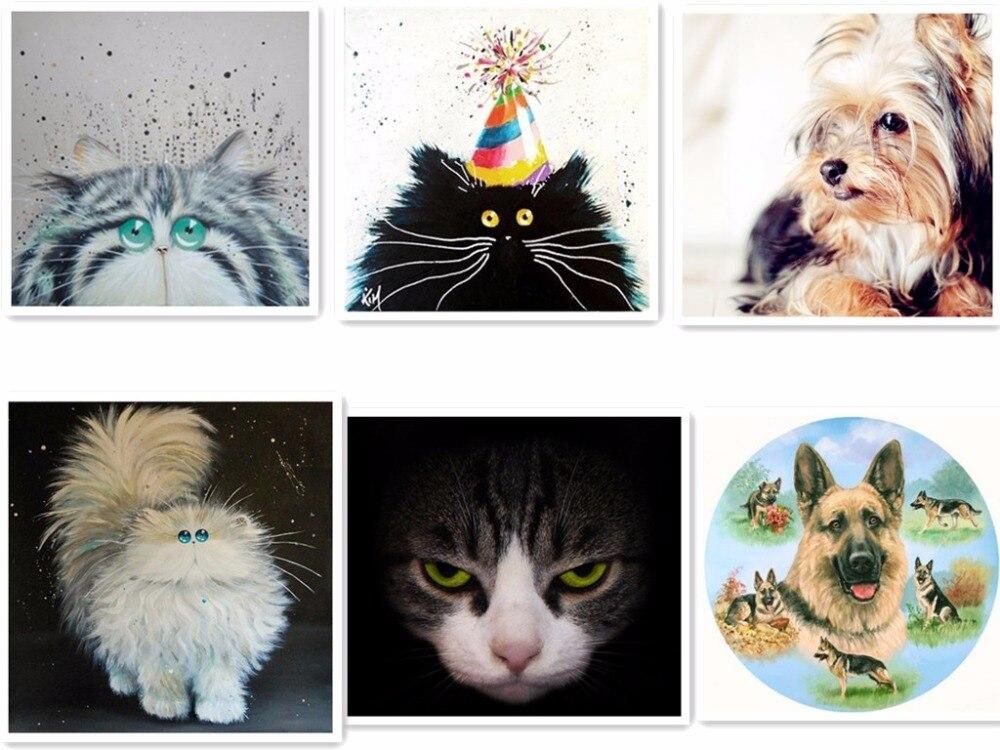 2017 NEW diamond 5D DIY diamond painting cat and dog embroidery cross stitch rhinestone mosaic paint living room gift F050