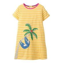 2019 New sunny baby dresses girl Striped Pattern Print solid cotton Girl dress Kids Girl Clothes Vestido Infantil de nena fiesta
