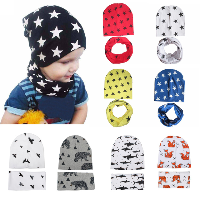 41 Types New Toddler Children's Beanie Head Cap Dome Baby Accessories Collar Scarf Small Star Hat Infant Cotton Cap years old