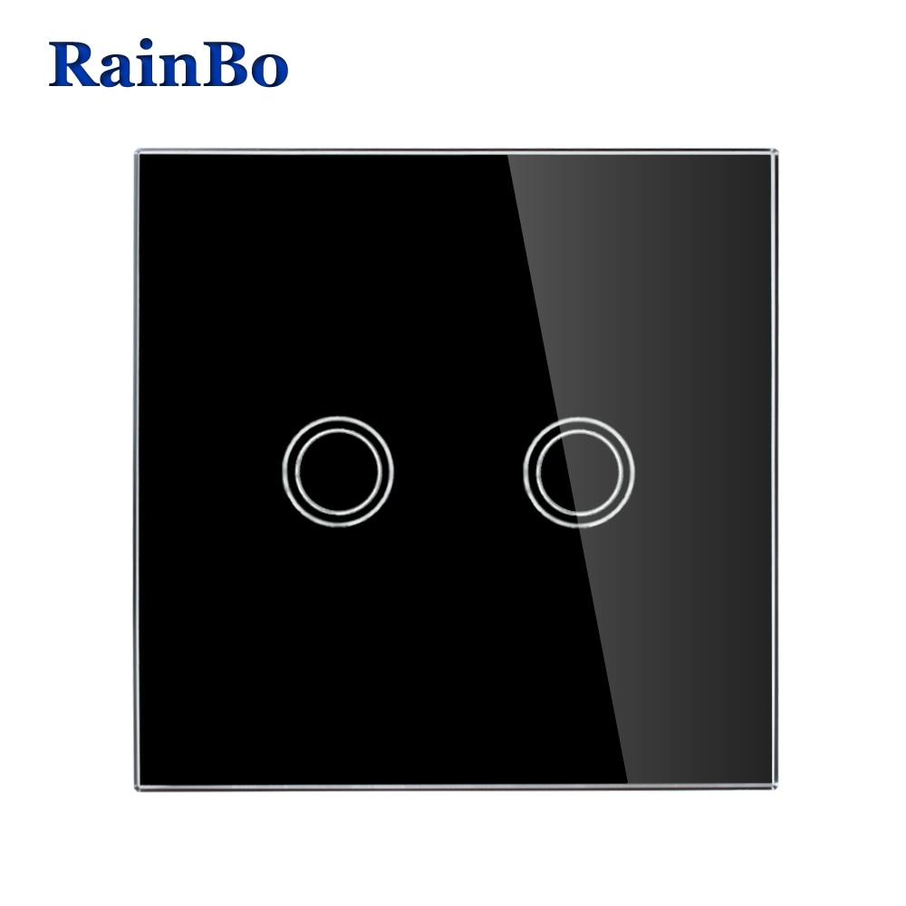 Interruptores e Relés rainbo marca novidade crystal painel Size : 80mm*80mm*40mm