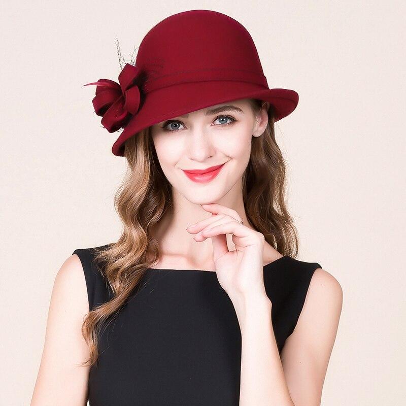 Mädchen Neue Fedoras Wolle Hut Dame Winter Britischen Fedoras Hut Solide Winter Warm Cap Fashion Street Trend Casual Hüte B-8722 Durchblutung GläTten Und Schmerzen Stoppen Bekleidung Zubehör