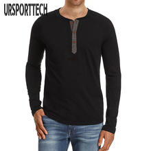 URSPORTTECH Brand Cotton T Shirt Men 2018 Spring Autumn New Long Sleeve T-Shirt Round Collar Tee Fashion Underwear